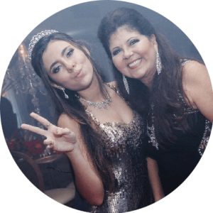 Nádia Freijanes – mãe Loise Festa 15 anos